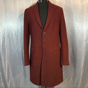 Neil Barrett men's single breast raw cut long coat